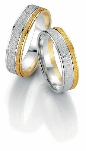 Trauringe Breuning Smartline Collection 7065/7066 in 585 Gold 14 kt weiß gelb