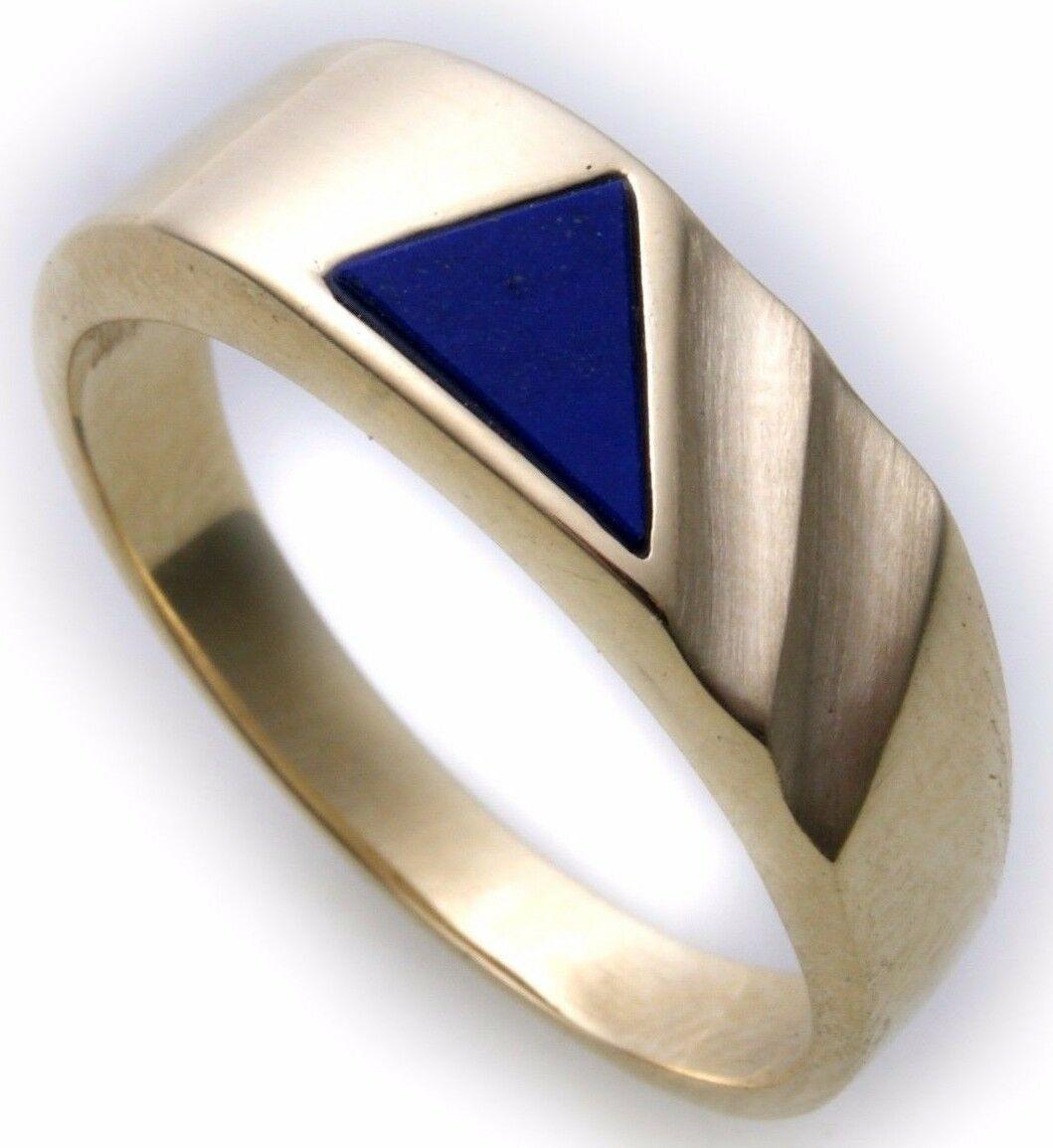 Herren Ring echt Gold 585 echt Lapis alle Steine mögl. Gelbgold Lapislazuli Neu