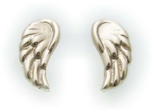 Damen Ohrringe Stecker Flügel Engel 585 Gold Engelflügel Gelbgold Ohrstecker