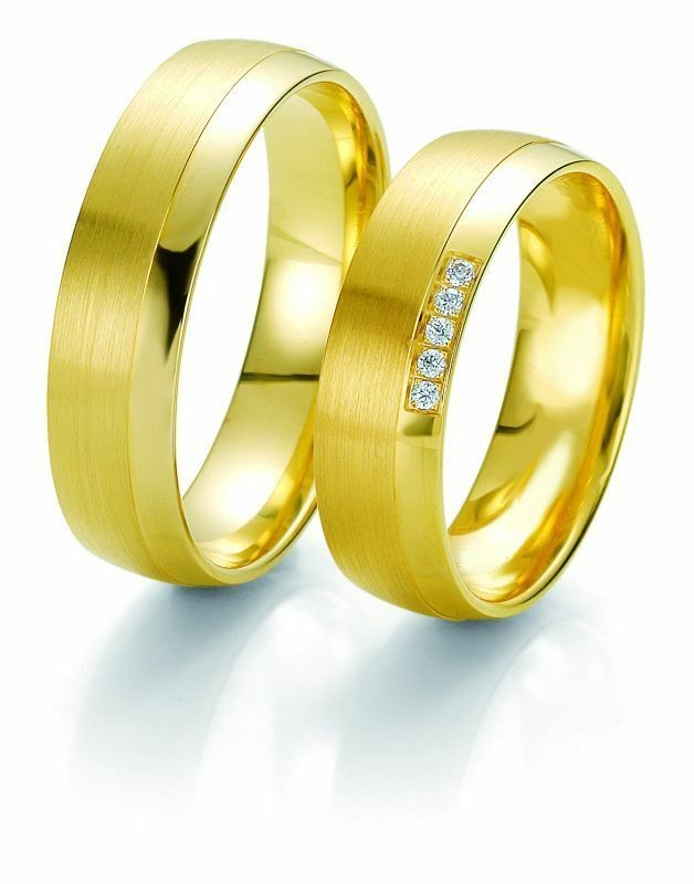 Trauringe Breuning Rainbow Collection 6225/6226 in 585 Gold gelb 14 kt