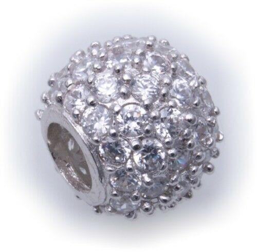 Bead Anhänger echt Silber 925 mit Zirkonia Sterlingsilber