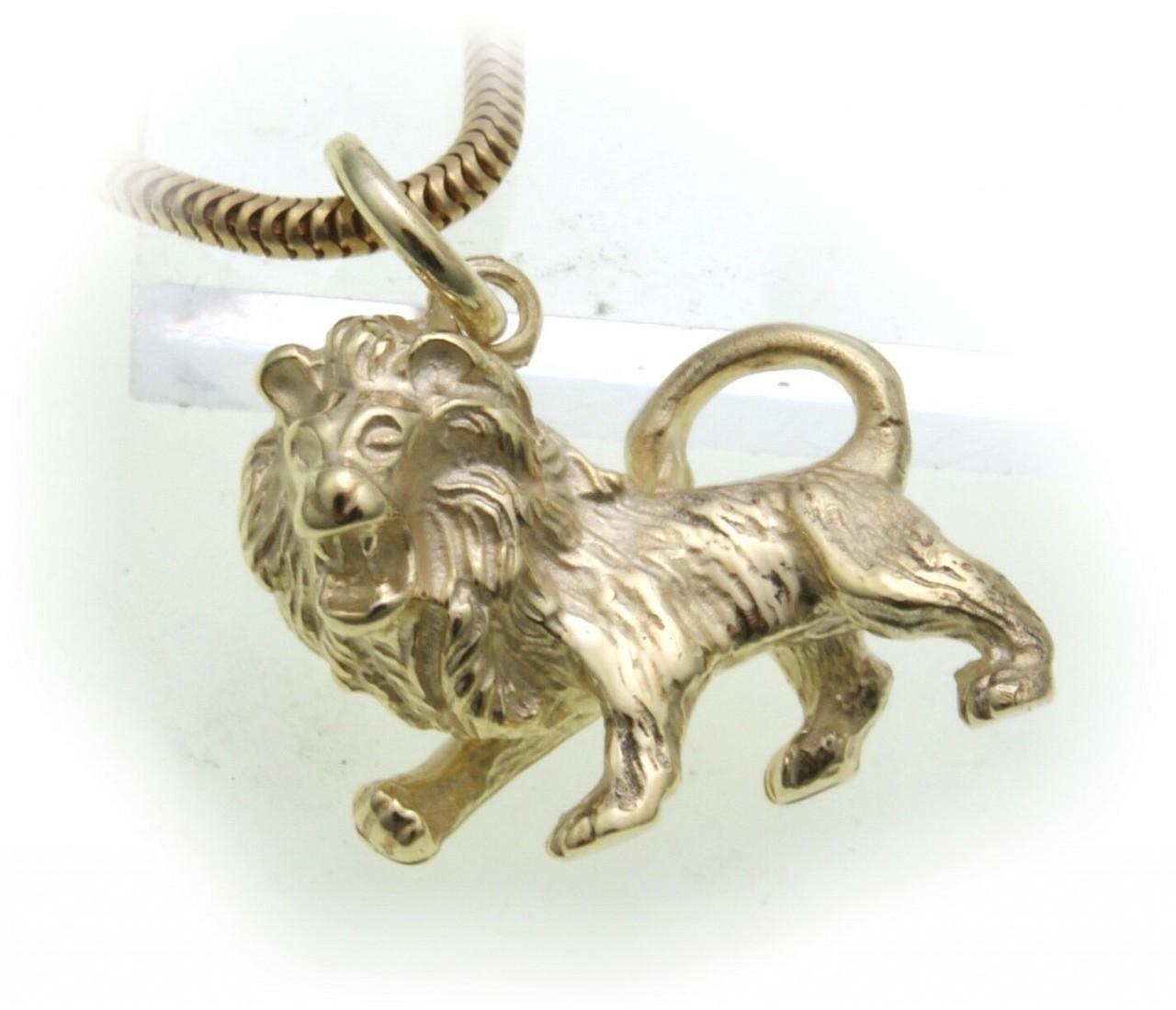Anhänger Sternzeichen Löwe echt Gold 585 massiv 14kt Tierkreiszeichen