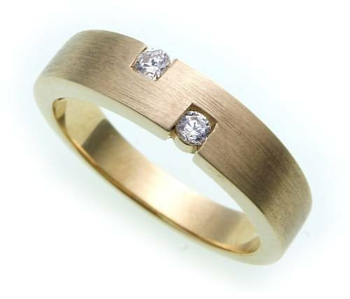Damen Ring echt Gold 333 Zirkonia mattiert Gelbgold 8kt