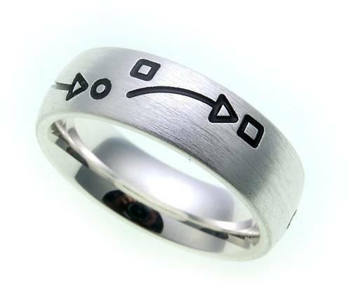 Damen Ring echt Silber 925 mattiert geschwärzt Sterlingsilber