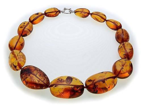 Hals Kette echter Bernstein aus der Ostsee Collier Damen Halskette Qualität AL9