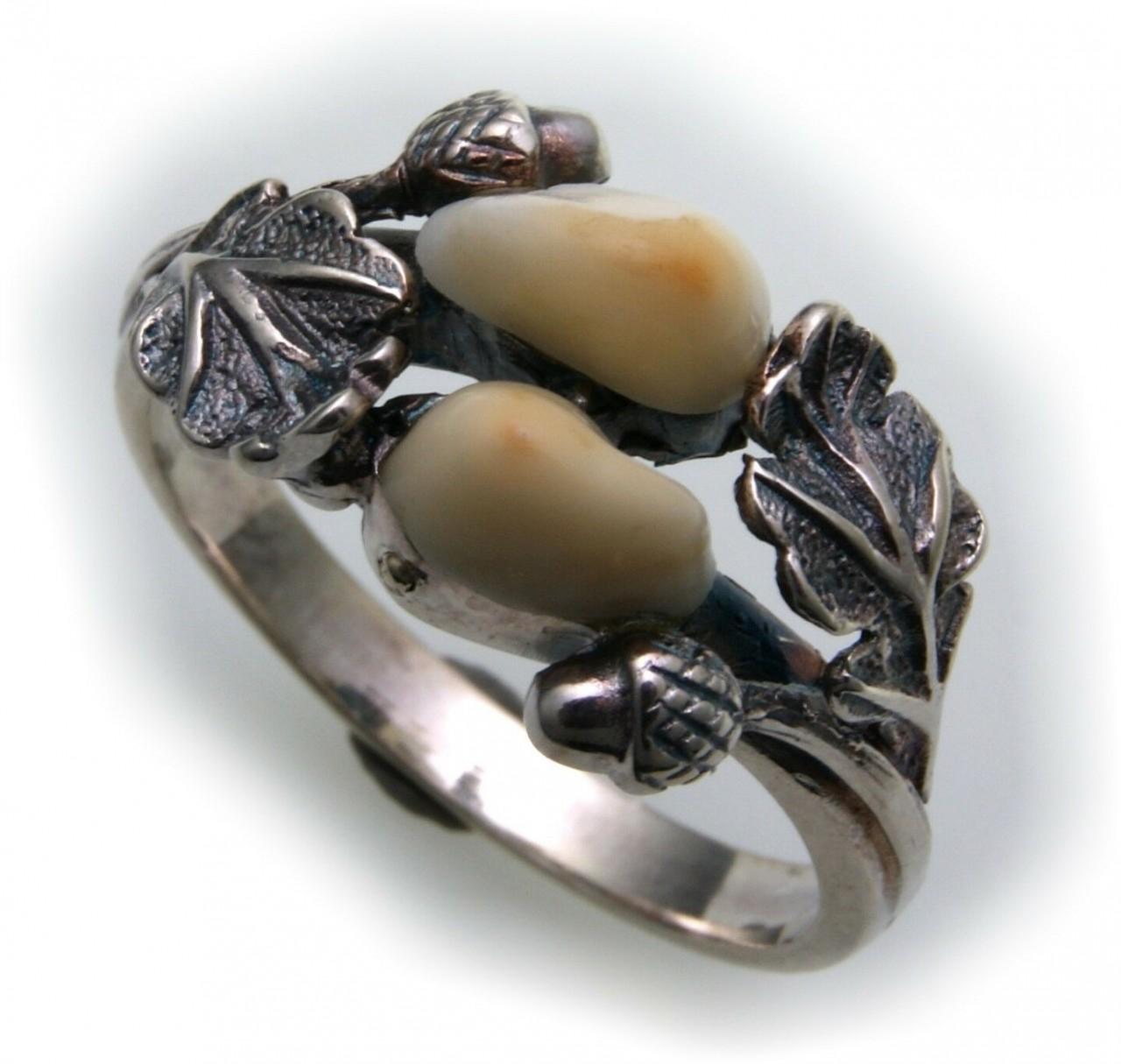 Grandel Ring echt Silber 925 Jagdschmuck Grandelschmuck Grandelring DR855