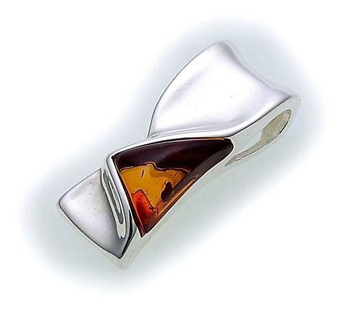 Anhänger echt Bernstein in Silber 925 Sterlingsilber Unisex Qualität Neu Top OS3