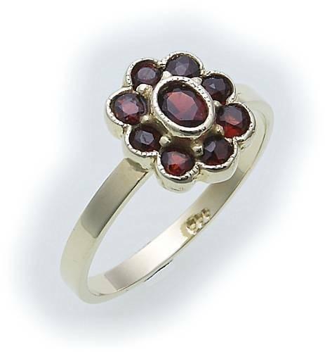 Damen Ring m. Granat in Silber 925 Granatring Sterlingsilber Qualität 8013/8GR