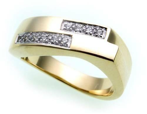 Damen Ring echt Gold 333 Zirkonia poliert rhod. Gelbgold 8kt BR1548 ZI