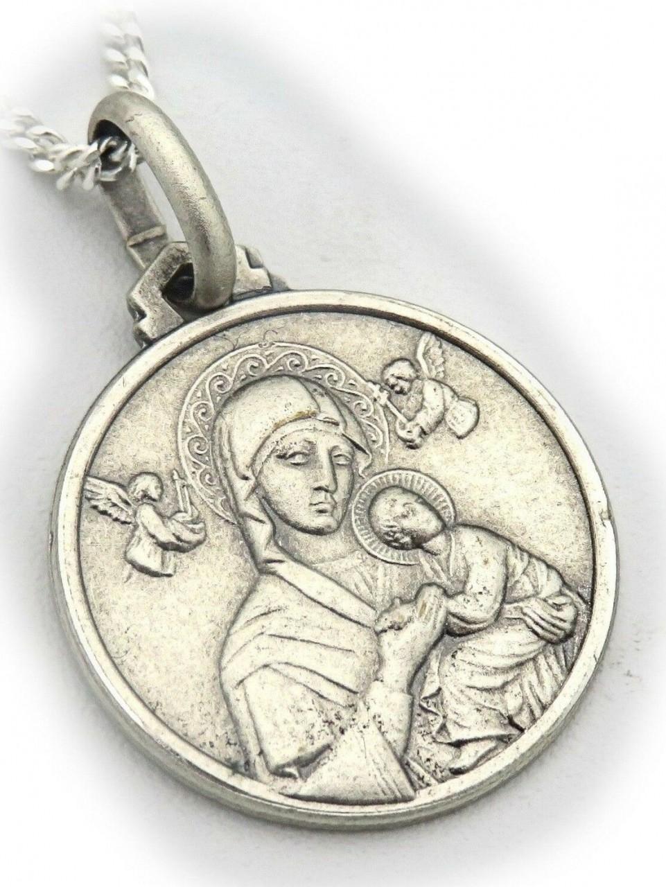 Neu Anhänger echt Silber 925 Maria mit Jesus mit Kette oder ohne Top Qualität
