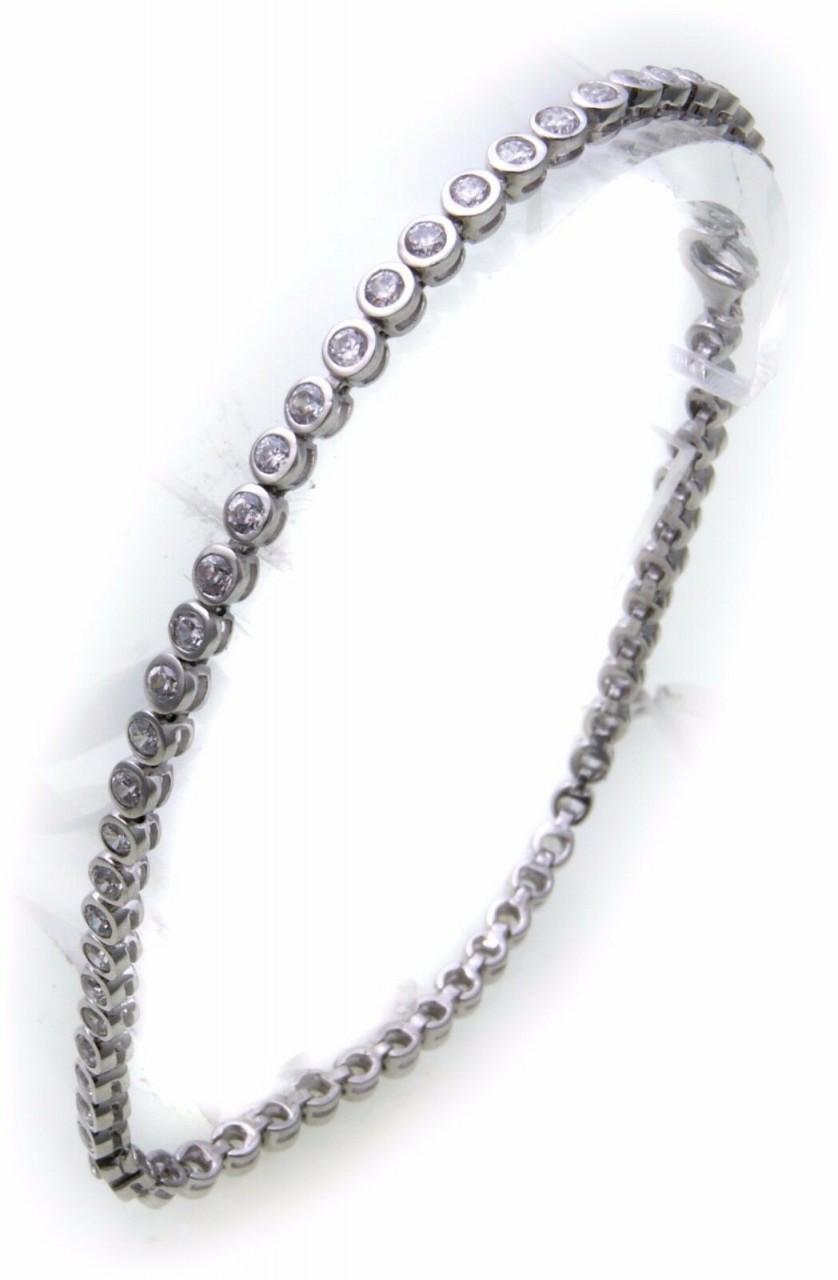 Damen Tennis Armband echt Silber 925 Zirkonia 3,0 mm breit Sterlingsilber Neu
