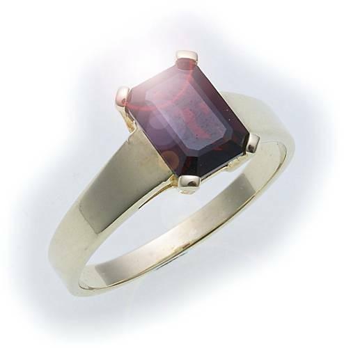 Damen Ring m. Granat in Gold 585 Gelbgold Granatring alle Weiten 8110/5GR