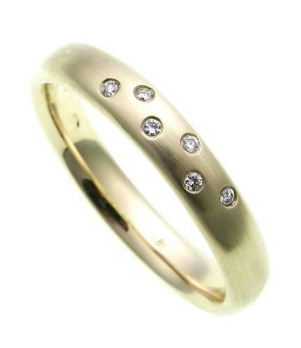 Damen Ring Brillant 0,04ct echt Gold 585 massiv Gelbgold Qualität SI