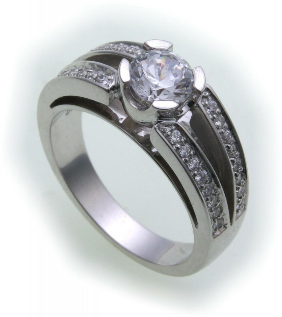 Damen Ring Brillant 1,32 c Diamant si echt Weißgold 750 18kt 1,0 ct Solitär Gold