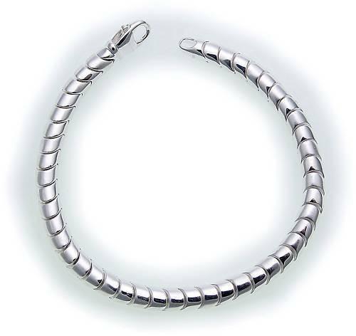 Damen Armband in Silber 925 massiv 19 cm teilmattiert Sterlingsilber AU40424/19