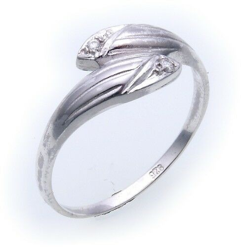 Damen Ring echt Silber 925 mit Zirkonia Ring Sterlingsilber