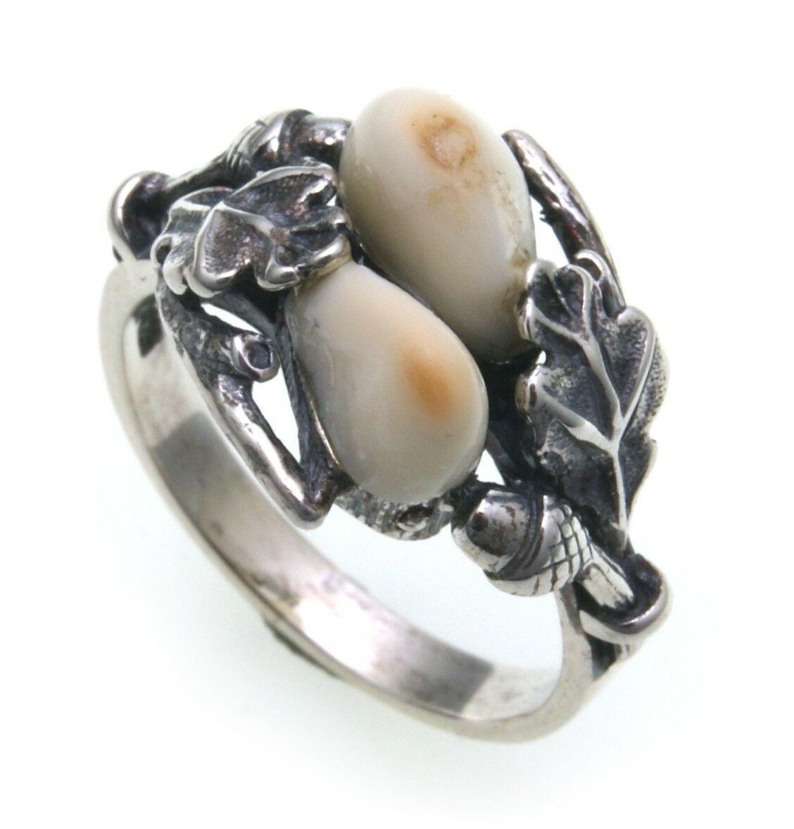 Grandel Ring echt Silber 925 Jagdschmuck Grandelschmuck Grandelring 5