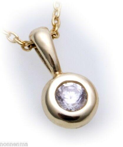 Anhänger mit Brillant 0,25 carat echt Gold 585 Qualität Diamant Gelbgold