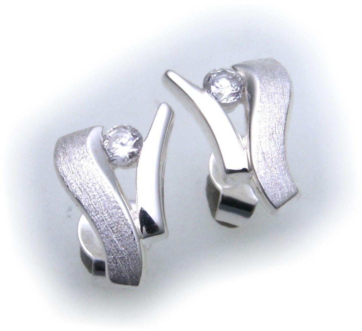 Damen Ohrringe Zirkonia Silber 925 Qualität Ohrstecker Sterlingsilber BR2649 ZI