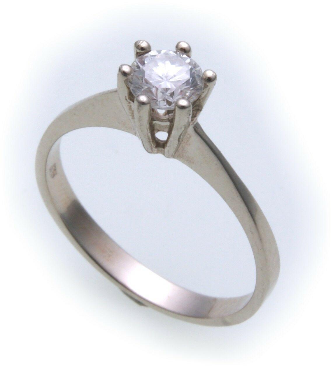 Sonderpreis Damen Ring Brillant 0,50ct Weißgold 585 er- Gold Solitär Diamant