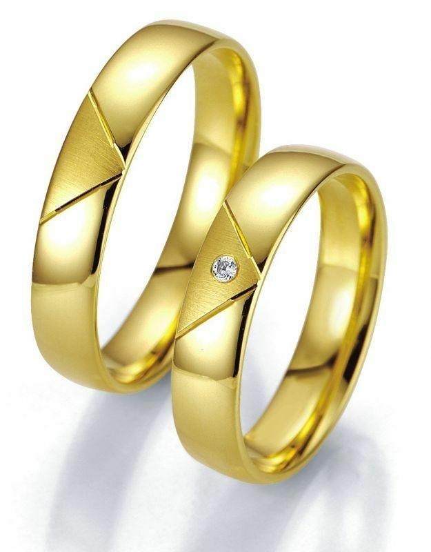 Trauringe Breuning Smartline Collection 7007/7008 in 585 Gold 14 kt