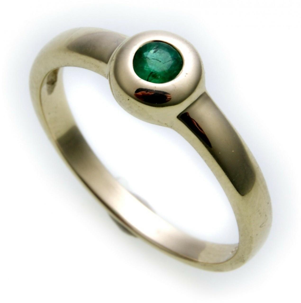 Damen Ring echt Gold 585 Smaragd 14kt Juwelierqualität Gelbgold Einsteiner