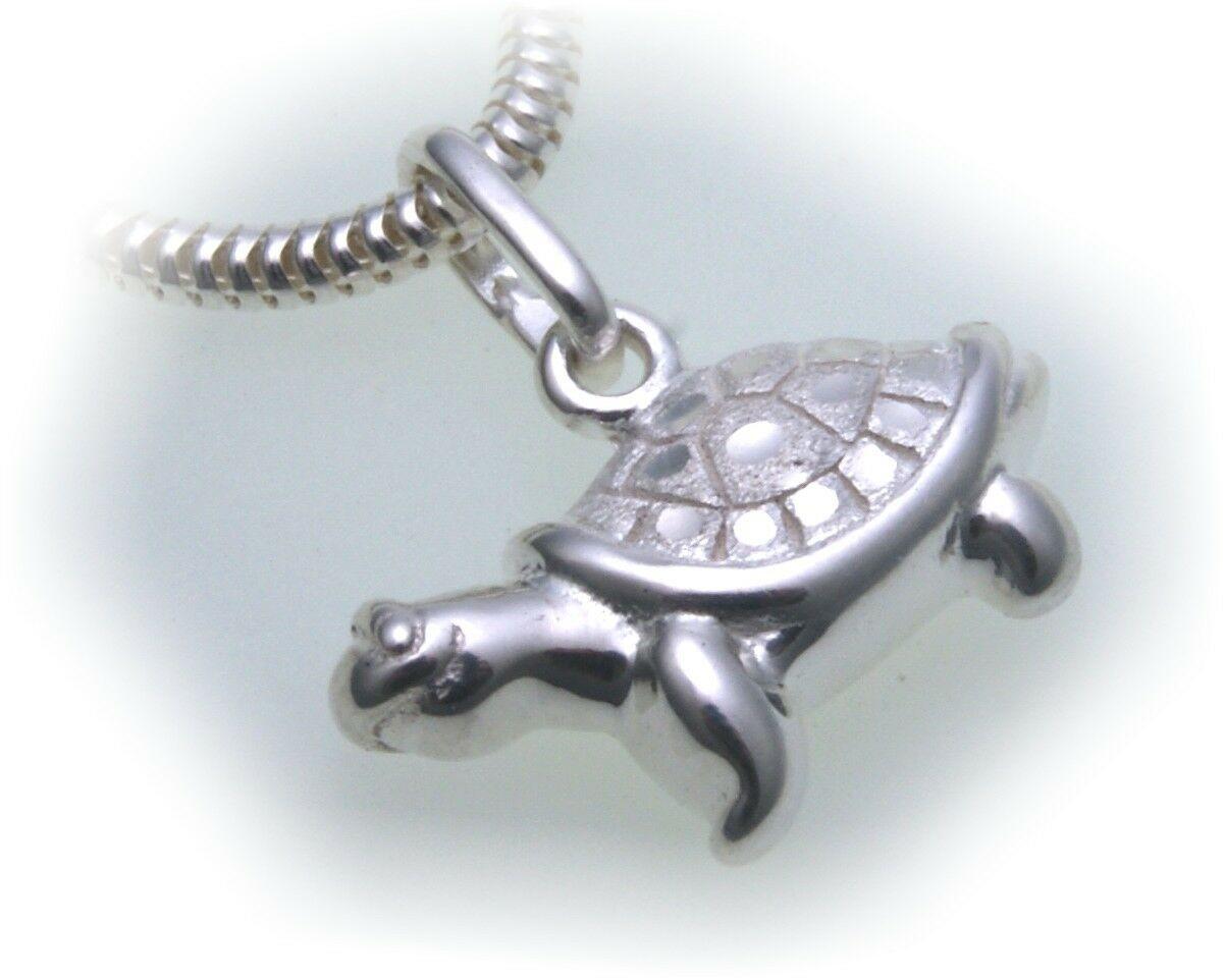 Anhänger Charm Schildkröte echt Silber 925 Einhänger Sterlingsilber Unisex
