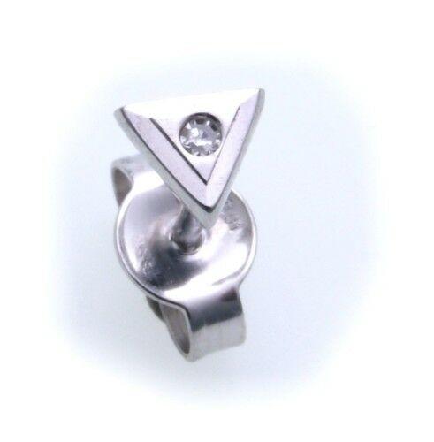 Herren Ohrringe Stecker echt Weißgold 585 Brillant 0,01 Diamant 585er-Gold