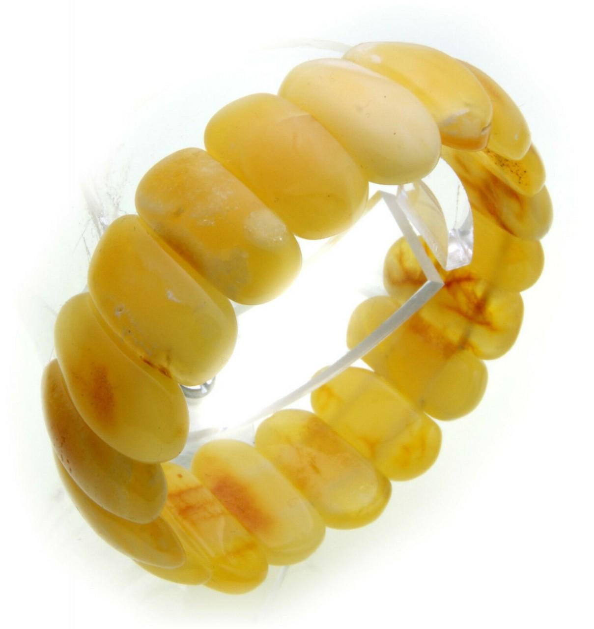 Damen Armband echter Bernstein weiß aus der Ostsee Armreif selten Qualität