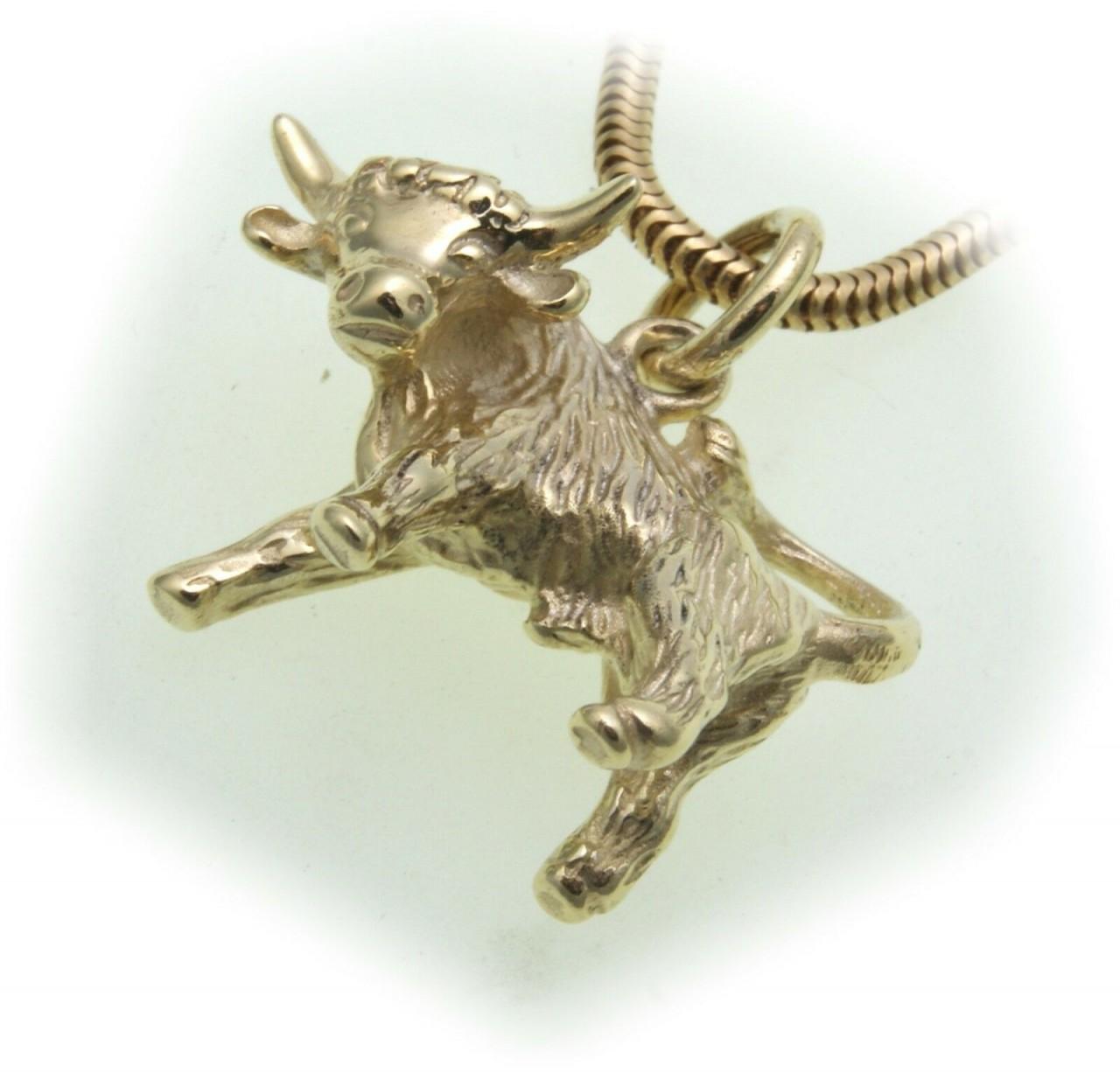 Anhänger Sternzeichen Stier echt Gold 333 massiv 8kt Tierkreiszeichen