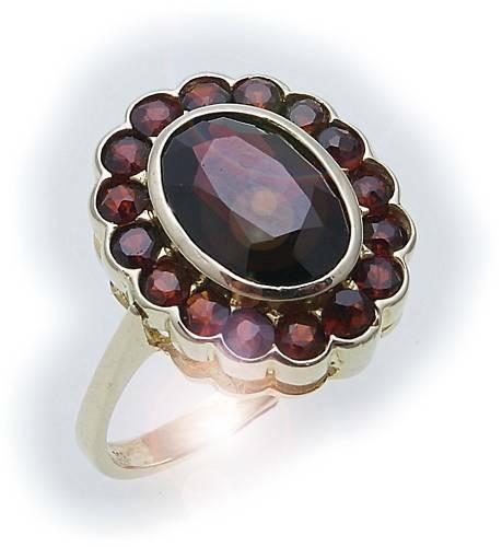 Damen Ring m. Granat in Gold 333 Granatring Gelbgold Qualität 8911/3GR