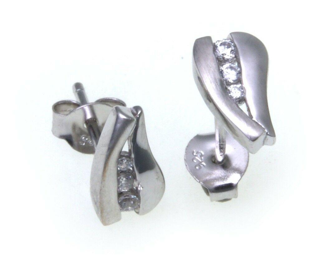 exkl. Damen Ohrringe Stecker Zirkonia echt Silber 925 Ohrstecker Sterlingsilber