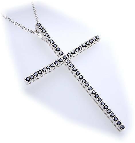 Anhänger Kreuz Zirkonia echt Silber 925 XXL 70 mm groß Sterlingsilber