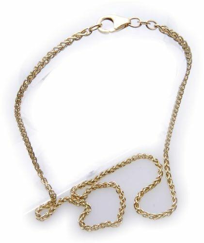 Damen Collier Zopfkette in Gold 333 42 cm 8kt Halskette Gelbgold