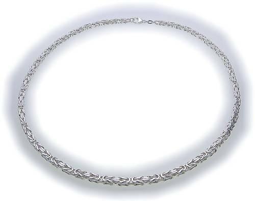 Königskette in Silber 925 4,0 mm 50 cm Sterlingsilber Unisex Qualität