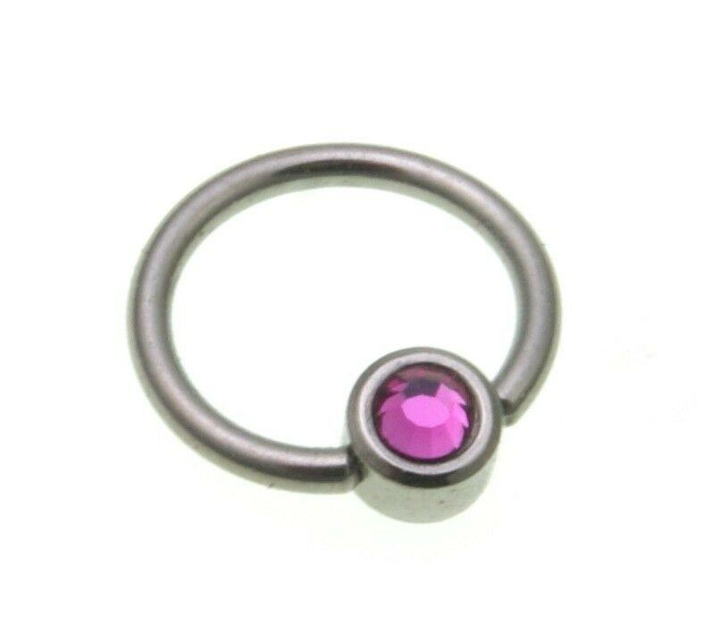 Piercing Augenbraue Titan rosa pink Zirkonia Lippe gute Qualität