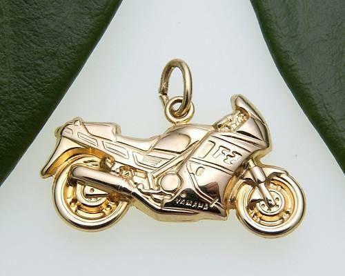 Anhänger Motorrad detailgetreu 333 Gold Gelbgold Unisex Qualität