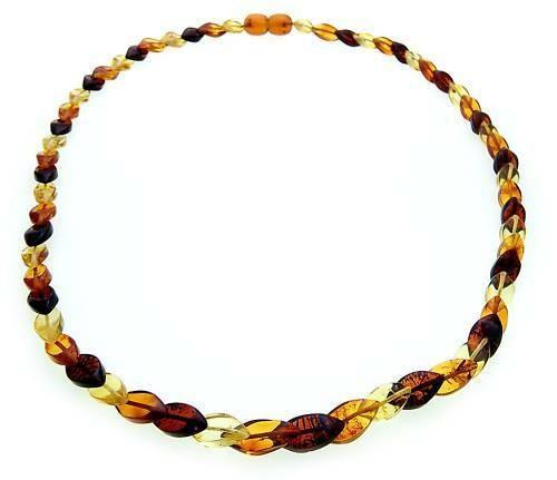 Damen Halskette echter Bernstein aus der Ostsee Collier farbig schöne Qualität