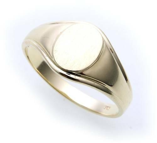 Herren Ring echt Gold 333 mit Monogrammgravur Gelbgold Qualität 8kt Herrenring