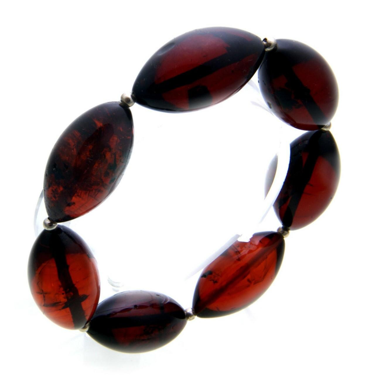 Armband echter Bernstein aus der Ostsee braun oval schöne Oliven Qualität AC1