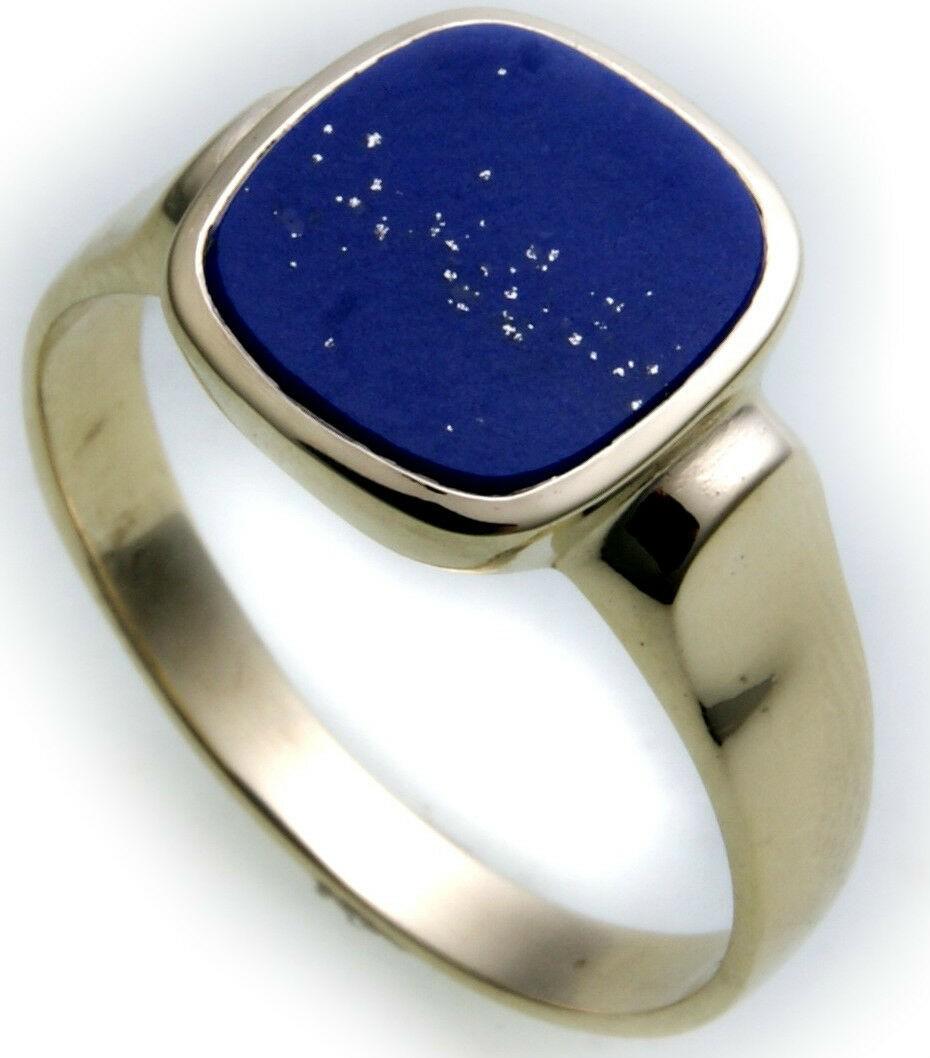 Herren Ring echt Gold 333 echt Lapis Lazuli alle Steine mögl. Gelbgold Qualität