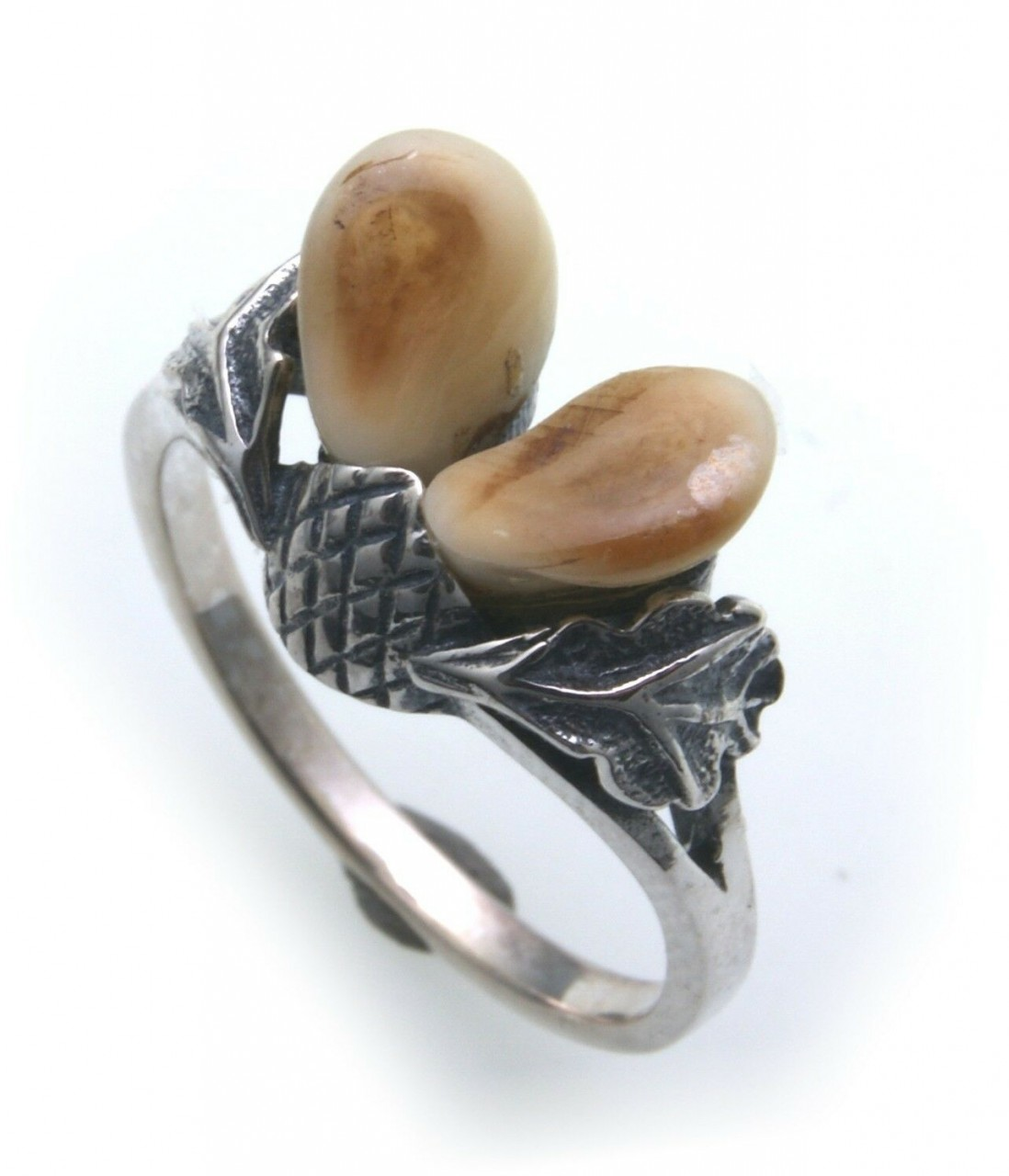 Grandel Ring echt Silber 925 Jagdschmuck Grandelschmuck Grandelring 3