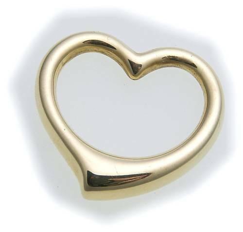 Anhänger Herz 3 dim. zum durchziehen poliert echt 585 Gold 14kt Gelbgold Damen