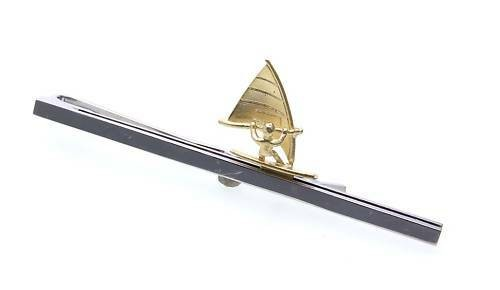 Krawattenhalter Surfer echt Silber 925 teilverg Sterlingsilber Qualität