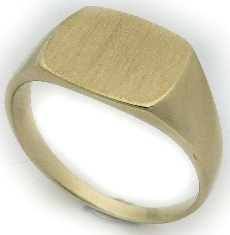 Neu Herren Ring echt Gold 333 mit Monogrammgravur Gelbgold Qualität 8 karat Top