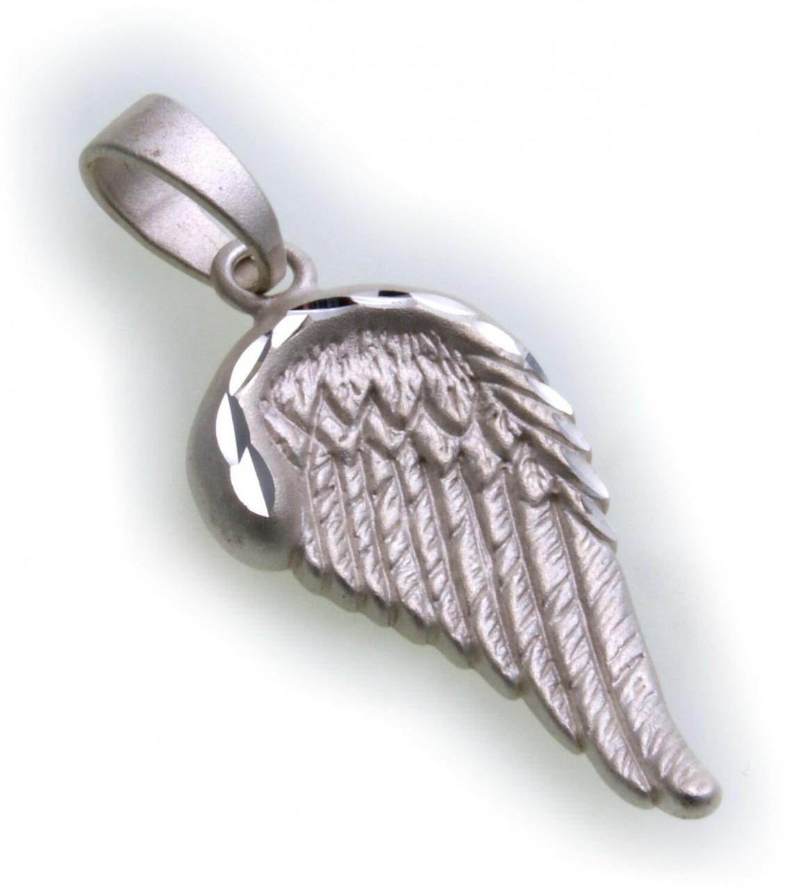 Anhänger Flügel groß Engel Silber 925 matt Engelsflügel Sterlingsilber Damen