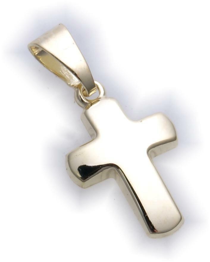 Anhänger Kreuz echt Gold 333 19 mm Gelbgold Unisex