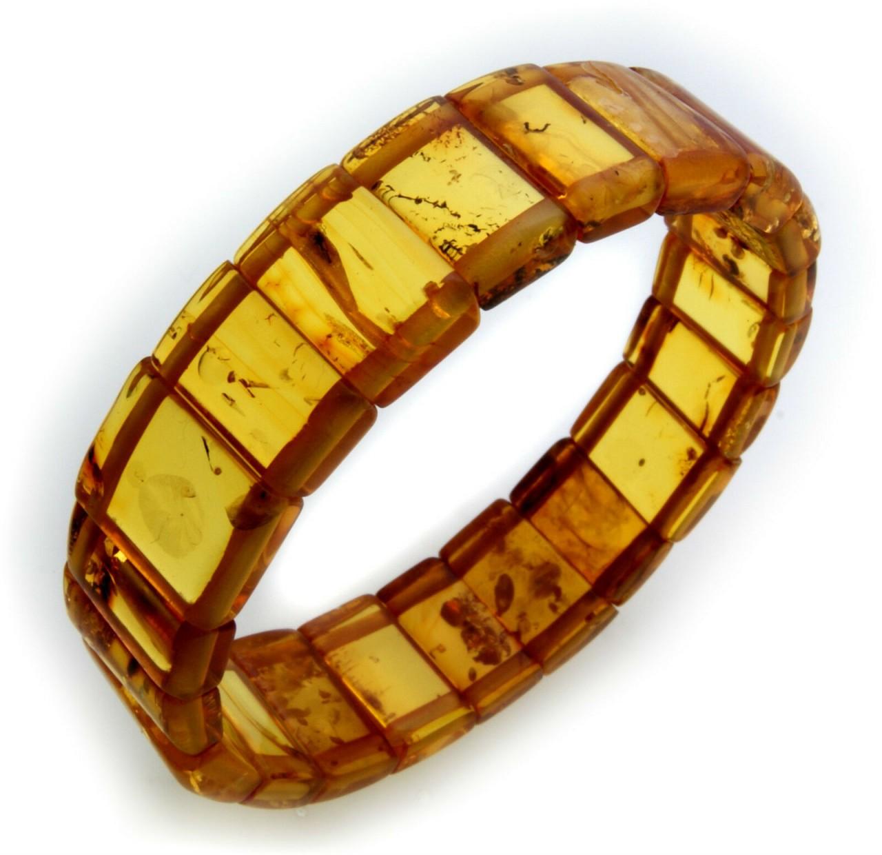 Damen Armband echter Bernstein braun cognac aus der Ostsee beste Qualität Neu