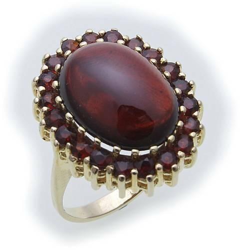 Damen Ring Granat in Silber 925 Granatring Sterlingsilber Qualität 8925/8GR Cab