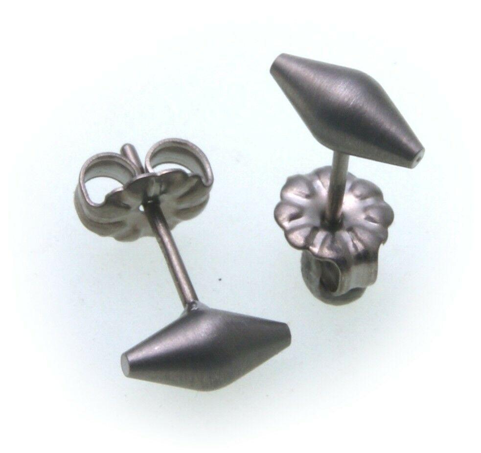 Ohhringe Stecker aus Titan mattiert Ohrstecker